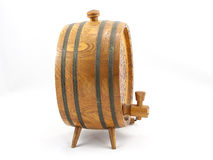 Wooden barrel for a vine. Wooden barrel for a wine  on a white background. Souvenir Stock Images