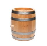 Wooden barrel. On a white background Royalty Free Stock Photography