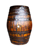 Wooden barrel on white background Stock Photo