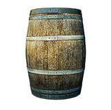 Wooden barrel on a white background Royalty Free Stock Images