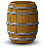 Wooden barrel on a white background Stock Images