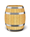 Wooden barrel  on white Royalty Free Stock Photo