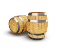 Wooden barrel  on white Stock Image