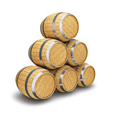 Wooden barrel  on white Royalty Free Stock Image
