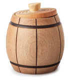 Wooden barrel   on white Royalty Free Stock Photography