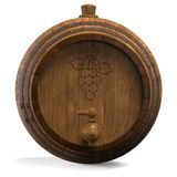 Wooden barrel for wine. 3D illustration Royalty Free Stock Photo