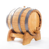 Wooden barrel for wine stock photography