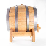 Wooden barrel for wine royalty free stock photo