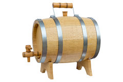 Wooden barrel for wine. Royalty Free Stock Photography