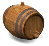 Wooden barrel for wine. 3D illustration Stock Photography