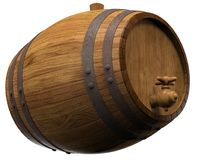 Wooden barrel. For wine. 3D illustration Royalty Free Stock Photography