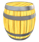 Wooden barrell. 3d illustration of wooden barrell isolated over white background vector illustration