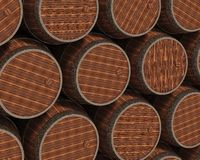 Wooden barrels Stock Image