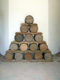 Wooden Barrels royalty free stock photos