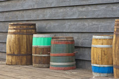 Wooden Barrels Stock Photo