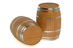 Wooden barrels Royalty Free Stock Image