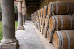 wooden barrels royalty free stock image