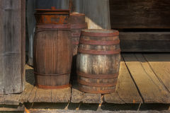 Wooden Barrels Royalty Free Stock Photography