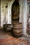 Wooden Barrels. Stored in old building from civil war era Royalty Free Stock Images
