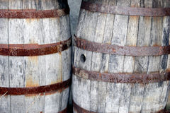 Wooden Barrels (two) Stock Image