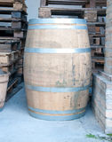Wooden barrels used to contain wine Royalty Free Stock Photo