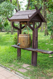 Wooden barrels for water storage Stock Images
