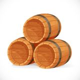 Wooden barrels Stock Photography