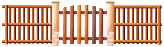 A wooden barricade Stock Image