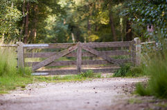 Wooden barrier Royalty Free Stock Photo