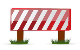 Wooden barrier protecting road works Stock Photos