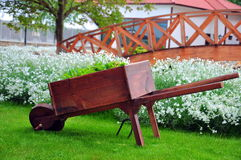 Wooden barrow Royalty Free Stock Photography