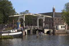 Wooden Bascule Bridge - Amsterdam - Netherlands Stock Image