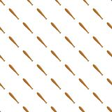 Wooden baseball bat pattern, cartoon style. Wooden baseball bat pattern. Cartoon illustration of wooden baseball bat vector pattern for web Royalty Free Stock Photo