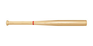 Wooden baseball bat Royalty Free Stock Image