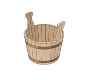 Wooden basin Royalty Free Stock Photo