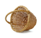 Wooden basket Stock Images