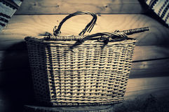 Wooden basket Royalty Free Stock Photos