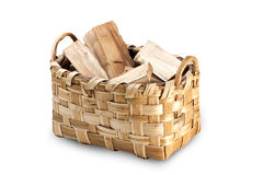 Wooden basket Stock Image