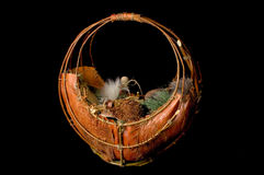 Wooden basket Royalty Free Stock Photography