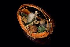 Wooden basket Royalty Free Stock Photos