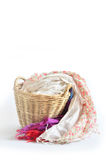 Wooden basket Royalty Free Stock Images