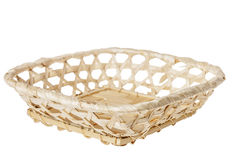 Wooden basket isolated Royalty Free Stock Image
