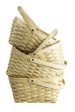 Wooden Basket Stack Stock Images