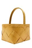 Wooden Basket w/ Path Stock Photo