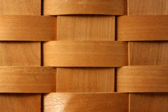 Wooden basket weave background Stock Photography