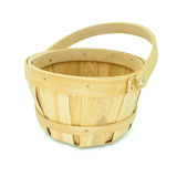 Wooden basket  on white background Stock Photography