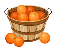 Free Wooden Basket With Oranges. Stock Images - 28333144