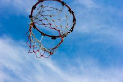 Wooden basketball hoop Stock Images