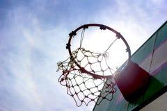 Wooden basketball hoop Royalty Free Stock Image