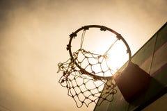 Wooden basketball hoop Stock Photography